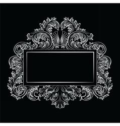 Vintage imperial baroque rococo frame vector