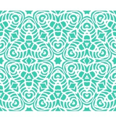 Lace art deco pattern with overlapping shapes vector