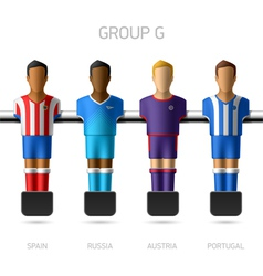 Table football foosball players group g vector
