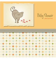 baby shower card with cat vector image