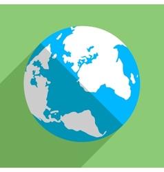 Earth globe flat icon vector image