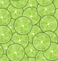 Seamless pattern slices of lime vector