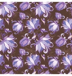 Lily Floral Pattern vector image