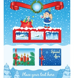 Christmas blue template vector