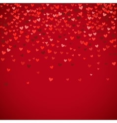 Romantic red heart background vector