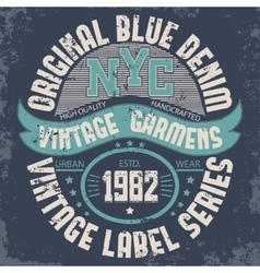 Denim typography t-shirt graphics vector