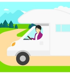Man driving motor home vector