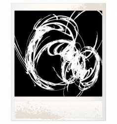 Scratched photo frame vector