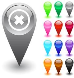 Delete cross button vector image