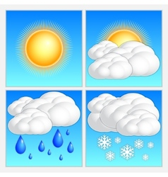 Abstract day weather image set vector