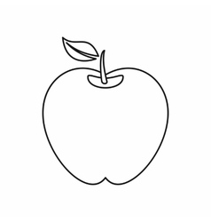 Apple icon in outline style vector image