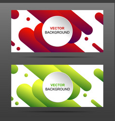 Banner with abstract colorful shapes vector