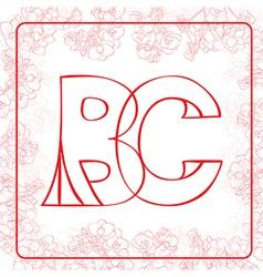 BC monogram vector image