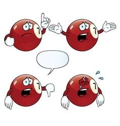 Crying billiard ball set vector image vector image