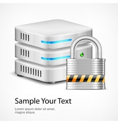 Database security concept vector