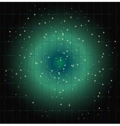 Dot light grid blue background vector