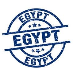 Egypt blue round grunge stamp vector
