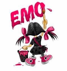 Emo kid vector