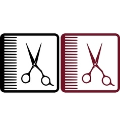 hairdresser signs vector image