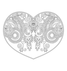 Heart shaped pattern for adult and older children vector