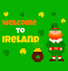 irish concept background perfect for st patrick vector image vector image