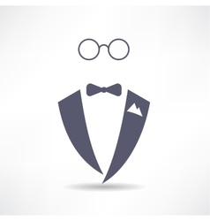 Man in tuxedo icon vector