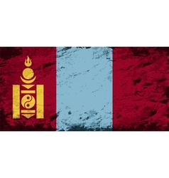 Mongolian flag Grunge background vector image vector image