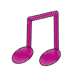 music note isolated vector image vector image