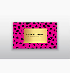 Pink and gold design business card abstract vector