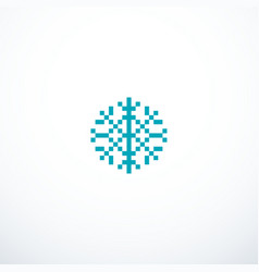 pixel snowflake icon vector image vector image