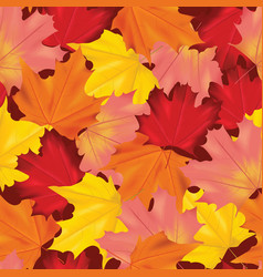 seamless colorful autumn leaves background pattern vector image