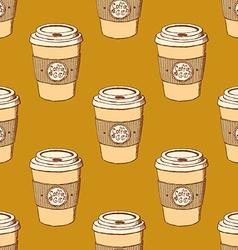 Sketch take away coffee vector image vector image