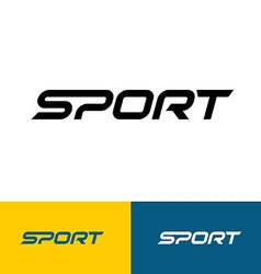 Sport word text logo vector image