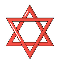 Star of david judaism icon cartoon style vector