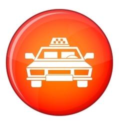 Taxi car icon flat style vector