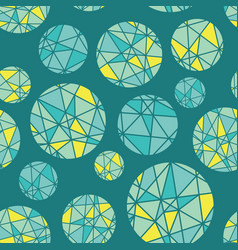 Teal blue green geometric mosaic circles vector
