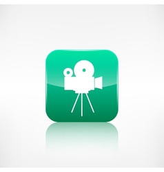 Video camera icon media symbol app botton vector