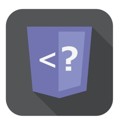 violet shield with php programming language vector image
