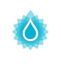 water drop icon or logo vector image vector image