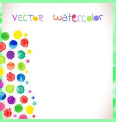 Watercolor splash background set vector