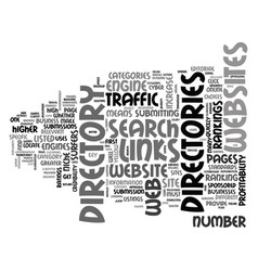 web directories increase traffic and vector image vector image