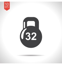 weight icon Eps10 vector image