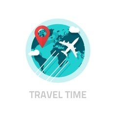 Travelling around world by plane  travel vector