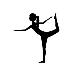 Isolated girl practice stretch design vector