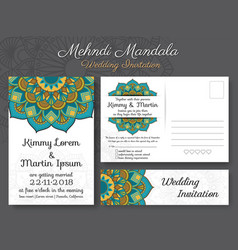 Classic vintage wedding invitation card design vector
