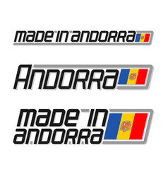 Made in andorra vector