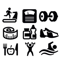 fitness and sport vector image