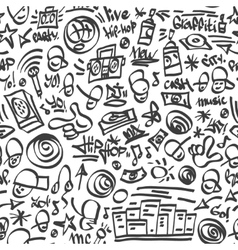 raphip hop symbols - seamless backrond vector image