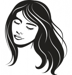 vector face girl portrait vector