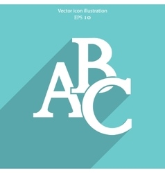 Abc icon vector